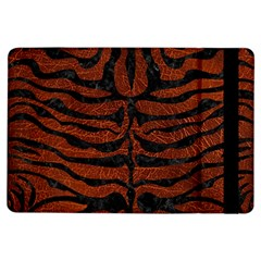 Skin2 Black Marble & Reddish Brown Leather Ipad Air Flip by trendistuff