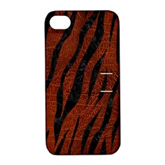Skin3 Black Marble & Reddish Brown Leather Apple Iphone 4/4s Hardshell Case With Stand by trendistuff