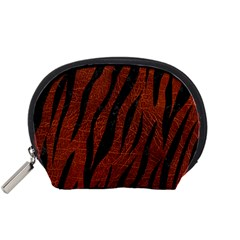 Skin3 Black Marble & Reddish Brown Leather Accessory Pouches (small)  by trendistuff