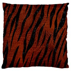Skin3 Black Marble & Reddish Brown Leather Standard Flano Cushion Case (two Sides) by trendistuff