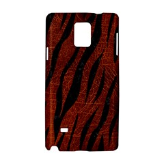 Skin3 Black Marble & Reddish Brown Leather Samsung Galaxy Note 4 Hardshell Case by trendistuff