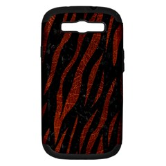 Skin3 Black Marble & Reddish Brown Leather (r) Samsung Galaxy S Iii Hardshell Case (pc+silicone) by trendistuff