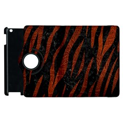 Skin3 Black Marble & Reddish Brown Leather (r) Apple Ipad 2 Flip 360 Case by trendistuff