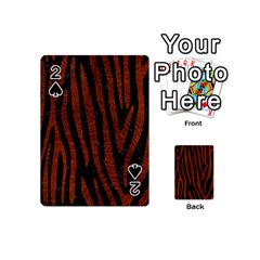 Skin4 Black Marble & Reddish Brown Leather Playing Cards 54 (mini)  by trendistuff