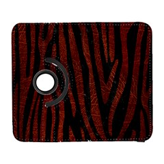 Skin4 Black Marble & Reddish Brown Leather Galaxy S3 (flip/folio) by trendistuff