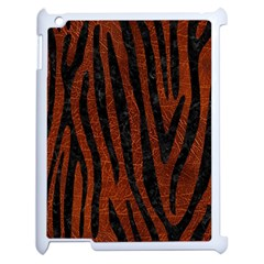 Skin4 Black Marble & Reddish Brown Leather (r) Apple Ipad 2 Case (white) by trendistuff