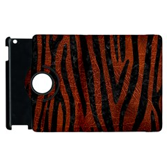 Skin4 Black Marble & Reddish Brown Leather (r) Apple Ipad 2 Flip 360 Case by trendistuff