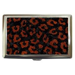 Skin5 Black Marble & Reddish Brown Leather Cigarette Money Cases by trendistuff