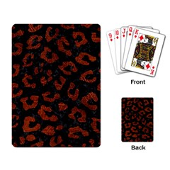 Skin5 Black Marble & Reddish Brown Leather Playing Card by trendistuff