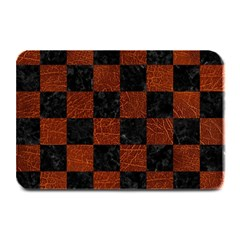 Square1 Black Marble & Reddish Brown Leather Plate Mats by trendistuff