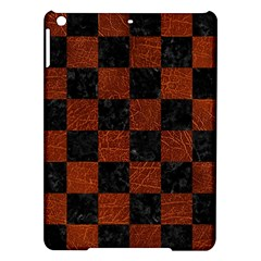 Square1 Black Marble & Reddish Brown Leather Ipad Air Hardshell Cases by trendistuff