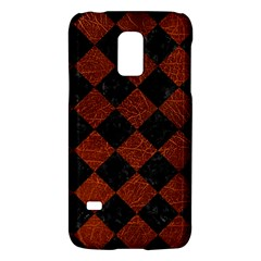 Square2 Black Marble & Reddish Brown Leather Galaxy S5 Mini by trendistuff