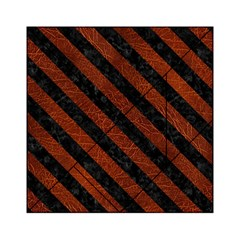 Stripes3 Black Marble & Reddish Brown Leather Acrylic Tangram Puzzle (6  X 6 ) by trendistuff