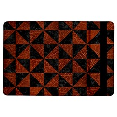 Triangle1 Black Marble & Reddish Brown Leather Ipad Air Flip by trendistuff