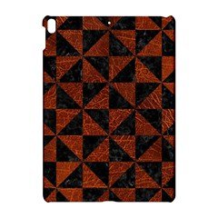 Triangle1 Black Marble & Reddish Brown Leather Apple Ipad Pro 10 5   Hardshell Case by trendistuff