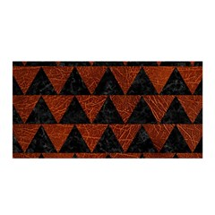 Triangle2 Black Marble & Reddish Brown Leather Satin Wrap by trendistuff