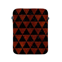 Triangle3 Black Marble & Reddish Brown Leather Apple Ipad 2/3/4 Protective Soft Cases by trendistuff