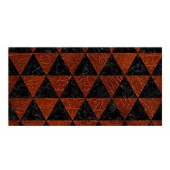 Triangle3 Black Marble & Reddish Brown Leather Satin Shawl by trendistuff