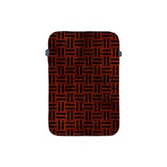 Woven1 Black Marble & Reddish Brown Leather Apple Ipad Mini Protective Soft Cases by trendistuff