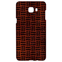 Woven1 Black Marble & Reddish Brown Leather Samsung C9 Pro Hardshell Case  by trendistuff