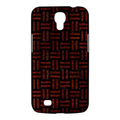 Woven1 Black Marble & Reddish Brown Leather (r) Samsung Galaxy Mega 6 3  I9200 Hardshell Case by trendistuff