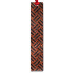 Woven2 Black Marble & Reddish Brown Leather Large Book Marks by trendistuff