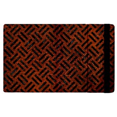 Woven2 Black Marble & Reddish Brown Leather Apple Ipad Pro 12 9   Flip Case by trendistuff