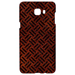 Woven2 Black Marble & Reddish Brown Leather Samsung C9 Pro Hardshell Case  by trendistuff