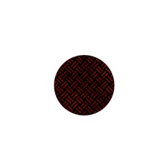 Woven2 Black Marble & Reddish Brown Leather (r) 1  Mini Magnets by trendistuff
