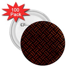 Woven2 Black Marble & Reddish Brown Leather (r) 2 25  Buttons (100 Pack)  by trendistuff