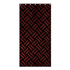 Woven2 Black Marble & Reddish Brown Leather (r) Shower Curtain 36  X 72  (stall)  by trendistuff