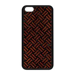 Woven2 Black Marble & Reddish Brown Leather (r) Apple Iphone 5c Seamless Case (black) by trendistuff