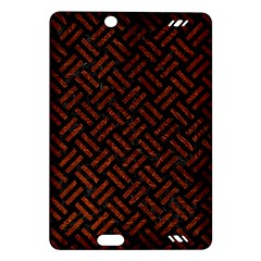 Woven2 Black Marble & Reddish Brown Leather (r) Amazon Kindle Fire Hd (2013) Hardshell Case by trendistuff