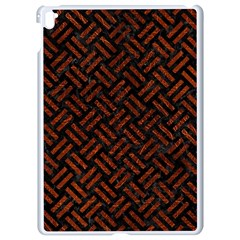 Woven2 Black Marble & Reddish Brown Leather (r) Apple Ipad Pro 9 7   White Seamless Case by trendistuff