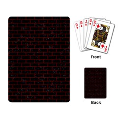 Brick1 Black Marble & Reddish Brown Wood (r) Playing Card by trendistuff