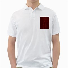 Brick2 Black Marble & Reddish Brown Wood Golf Shirts by trendistuff