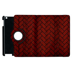 Brick2 Black Marble & Reddish Brown Wood Apple Ipad 2 Flip 360 Case by trendistuff