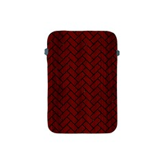 Brick2 Black Marble & Reddish Brown Wood Apple Ipad Mini Protective Soft Cases by trendistuff