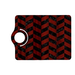 Chevron1 Black Marble & Reddish Brown Wood Kindle Fire Hd (2013) Flip 360 Case by trendistuff