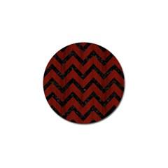 Chevron9 Black Marble & Reddish Brown Wood Golf Ball Marker (10 Pack) by trendistuff