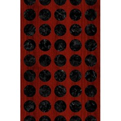 Circles1 Black Marble & Reddish Brown Wood 5 5  X 8 5  Notebooks by trendistuff