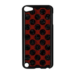 Circles2 Black Marble & Reddish Brown Wood Apple Ipod Touch 5 Case (black) by trendistuff