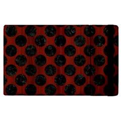 Circles2 Black Marble & Reddish Brown Wood Apple Ipad Pro 12 9   Flip Case by trendistuff