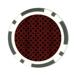 Circles3 Black Marble & Reddish Brown Wood (r) Poker Chip Card Guard (10 Pack) by trendistuff