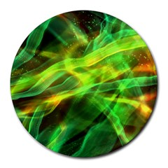 Abstract Shiny Night Lights 1 Round Mousepads by tarastyle
