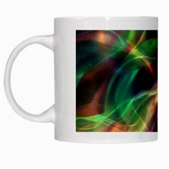 Abstract Shiny Night Lights 3 White Mugs by tarastyle