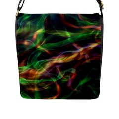 Abstract Shiny Night Lights 3 Flap Messenger Bag (l)  by tarastyle