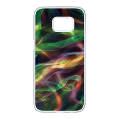 Abstract Shiny Night Lights 3 Samsung Galaxy S7 Edge White Seamless Case by tarastyle