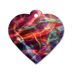 Abstract Shiny Night Lights 4 Dog Tag Heart (one Side) by tarastyle