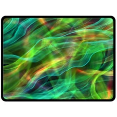 Abstract Shiny Night Lights 8 Double Sided Fleece Blanket (large)  by tarastyle
